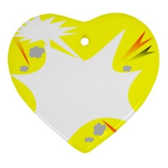 Mail Holyday Vacation Frame Heart Ornament (two Sides)