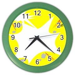 Mail Holyday Vacation Frame Color Wall Clocks