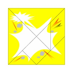 Mail Holyday Vacation Frame Acrylic Tangram Puzzle (6  X 6 )