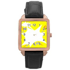 Mail Holyday Vacation Frame Rose Gold Leather Watch