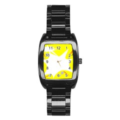 Mail Holyday Vacation Frame Stainless Steel Barrel Watch