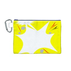 Mail Holyday Vacation Frame Canvas Cosmetic Bag (m)