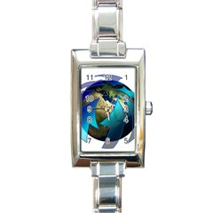 Migration Of The Peoples Escape Rectangle Italian Charm Watch