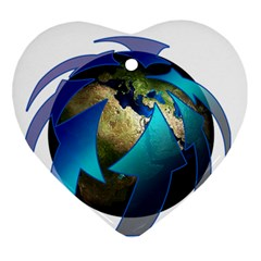 Migration Of The Peoples Escape Ornament (heart)