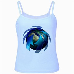 Migration Of The Peoples Escape Baby Blue Spaghetti Tank