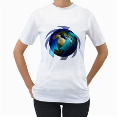 Migration Of The Peoples Escape Women s T Shirt (white) (two Sided)