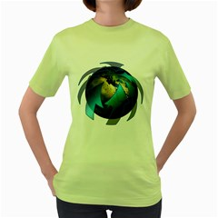 Migration Of The Peoples Escape Women s Green T-Shirt