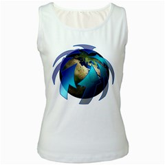 Migration Of The Peoples Escape Women s White Tank Top