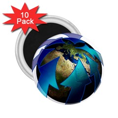 Migration Of The Peoples Escape 2 25  Magnets (10 Pack)