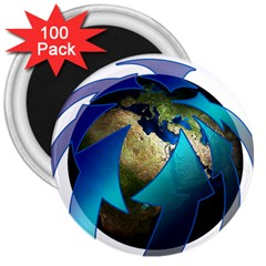 Migration Of The Peoples Escape 3  Magnets (100 pack)