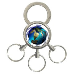 Migration Of The Peoples Escape 3 Ring Key Chains