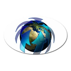 Migration Of The Peoples Escape Oval Magnet