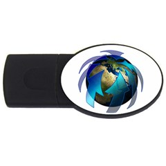 Migration Of The Peoples Escape USB Flash Drive Oval (2 GB)
