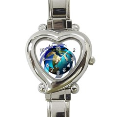 Migration Of The Peoples Escape Heart Italian Charm Watch
