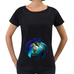 Migration Of The Peoples Escape Women s Loose Fit T Shirt (black)
