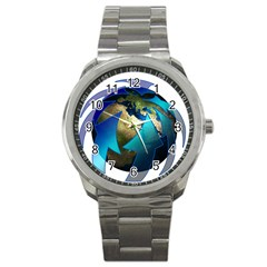 Migration Of The Peoples Escape Sport Metal Watch