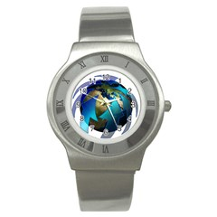 Migration Of The Peoples Escape Stainless Steel Watch