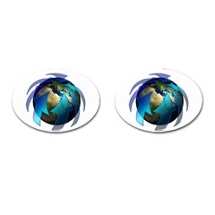 Migration Of The Peoples Escape Cufflinks (oval)