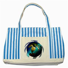 Migration Of The Peoples Escape Striped Blue Tote Bag