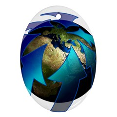 Migration Of The Peoples Escape Oval Ornament (two Sides)