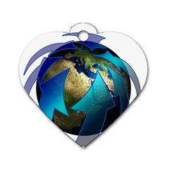 Migration Of The Peoples Escape Dog Tag Heart (two Sides)