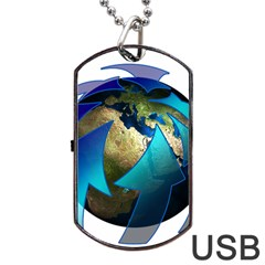 Migration Of The Peoples Escape Dog Tag Usb Flash (one Side)