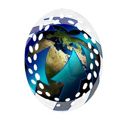 Migration Of The Peoples Escape Oval Filigree Ornament (two Sides)
