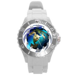 Migration Of The Peoples Escape Round Plastic Sport Watch (l)