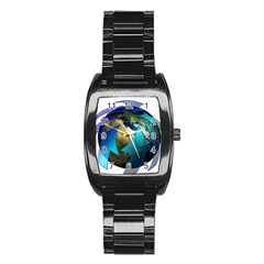 Migration Of The Peoples Escape Stainless Steel Barrel Watch
