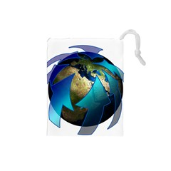 Migration Of The Peoples Escape Drawstring Pouches (small)
