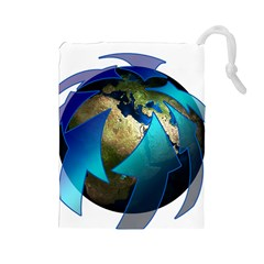 Migration Of The Peoples Escape Drawstring Pouches (large)