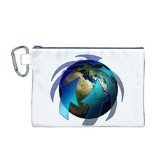 Migration Of The Peoples Escape Canvas Cosmetic Bag (m)