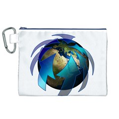 Migration Of The Peoples Escape Canvas Cosmetic Bag (xl)