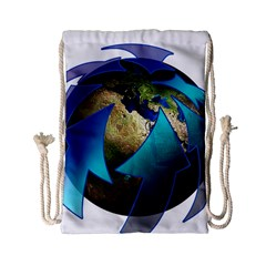 Migration Of The Peoples Escape Drawstring Bag (small)
