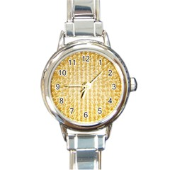 Pattern Abstract Background Round Italian Charm Watch