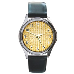 Pattern Abstract Background Round Metal Watch