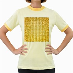 Pattern Abstract Background Women s Fitted Ringer T-Shirts