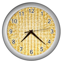 Pattern Abstract Background Wall Clocks (silver)