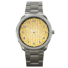 Pattern Abstract Background Sport Metal Watch