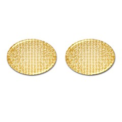 Pattern Abstract Background Cufflinks (oval)