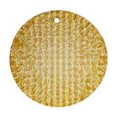 Pattern Abstract Background Round Ornament (two Sides)