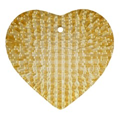 Pattern Abstract Background Heart Ornament (two Sides)