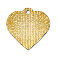Pattern Abstract Background Dog Tag Heart (one Side)