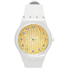 Pattern Abstract Background Round Plastic Sport Watch (m)