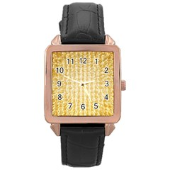 Pattern Abstract Background Rose Gold Leather Watch