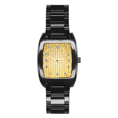Pattern Abstract Background Stainless Steel Barrel Watch