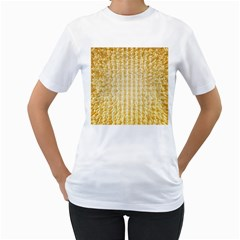 Pattern Abstract Background Women s T Shirt (white)