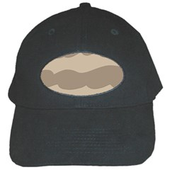 Pattern Wave Beige Brown Black Cap