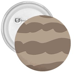 Pattern Wave Beige Brown 3  Buttons