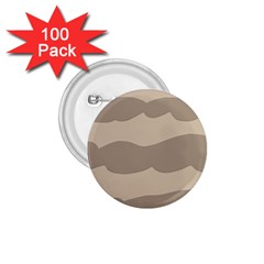 Pattern Wave Beige Brown 1 75  Buttons (100 Pack)